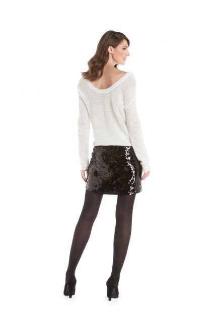 JACOB - Sweater + sequined miniskirt http://www.jacob.ca