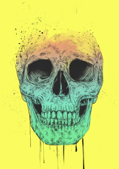 """Pop Art Skull"" by Balazs Solti on Artsider - Print available at http://www.artsider.com/works/34238-pop-art-skull"