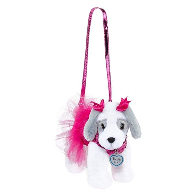 f9223d579b99 Poochie & Co Girl's Plush Puppy Dog Purse - Pink Sequins with Tutu â ...