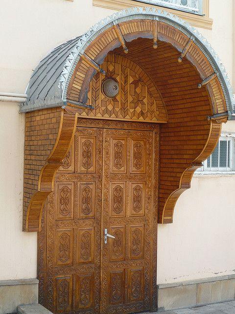 Traditional door, Krasnaya Sloboda, Azerbaijan