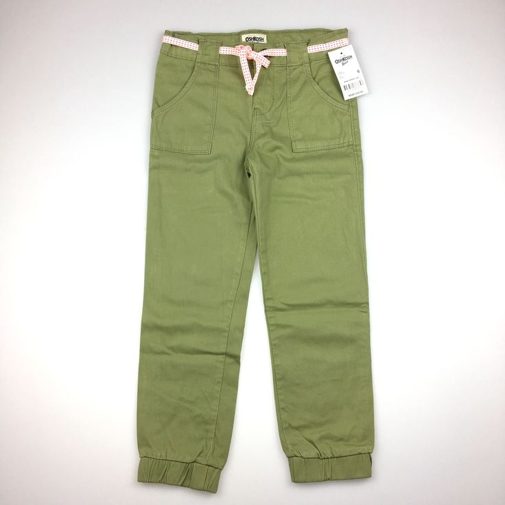 OSH KOSH, khaki pants with belt, BNWT, girl's size 6, $28 (RRP $59.95) #kidsfashion #girlsfashion #daisychainclothing #oshkosh