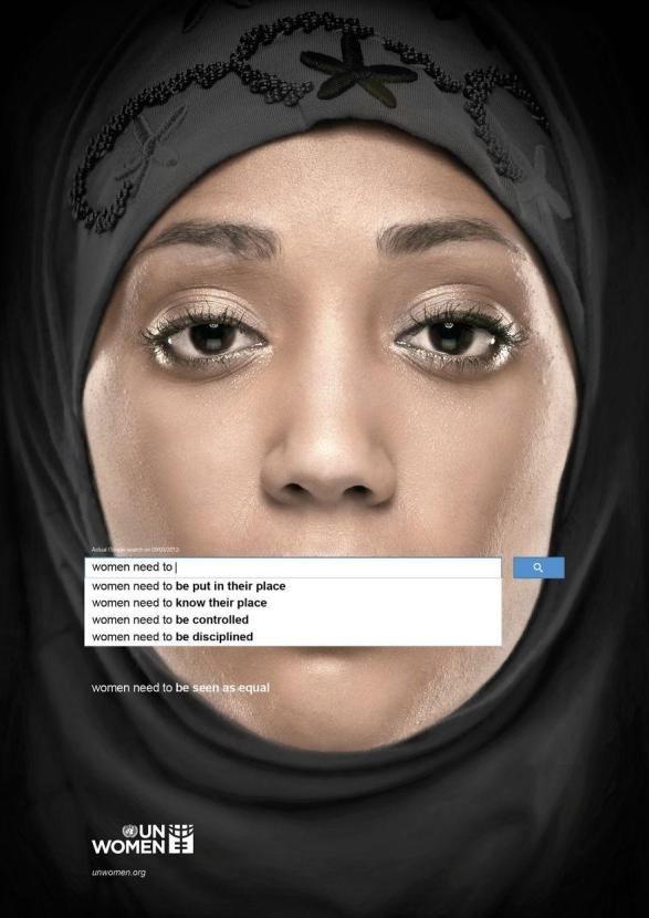 8. Autouzupełnienie pokazuje, jaka jest percepcja kobiet w społeczeństwie: kobiety muszą: znać swoje miejsce, być kontrolowane, być dyscyplinowane (Zjednoczone Emiraty Arabskie).