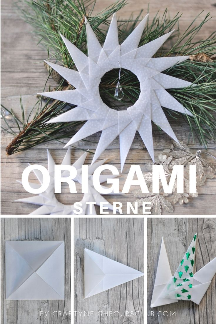 Ich schenk´dir ein Licht – Weihnachtsstern falten aus Pergament