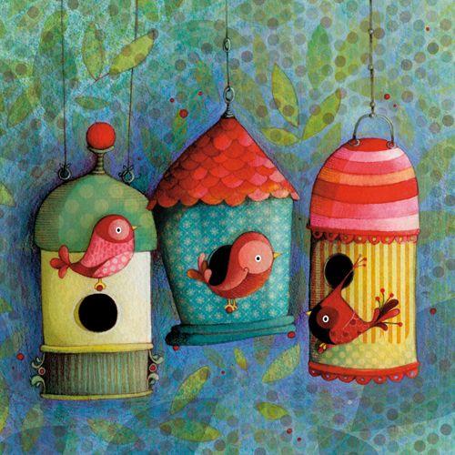 Bird houses. Ketto.
