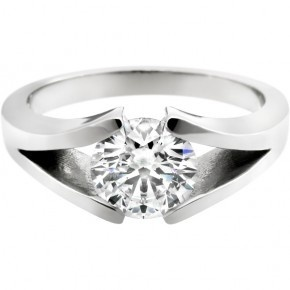 Split shank diamond tension engagement ring. I like the split but, the price seems to go up for it!