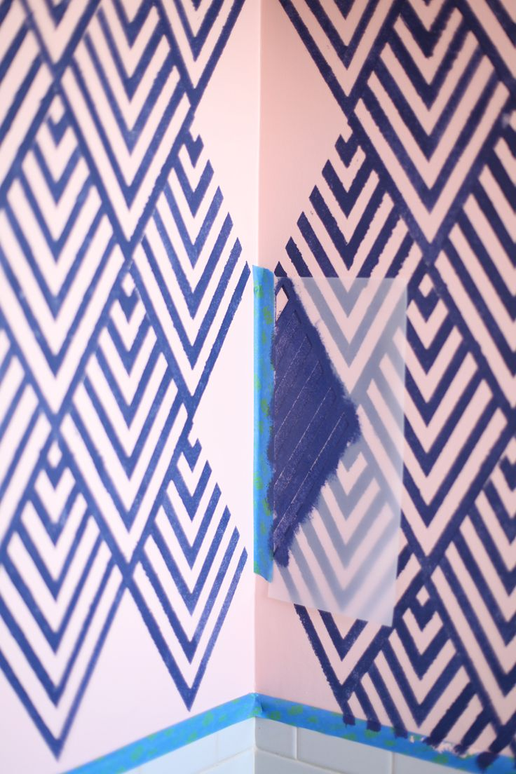 Best 25 geometric stencil ideas on pinterest arrow pattern create a wallpaper look with a geometric stencil amipublicfo Choice Image