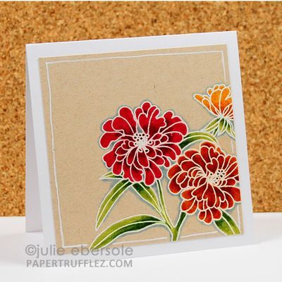 julie ebersole embossing and coloring with water based markers
