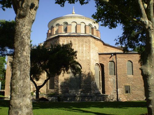 Hagia Irene or Church of Hagia Eirene in Istanbul, Turkey is one of the oldest examples of Byzantine architecture. http://abt.cm/NU8Zkf