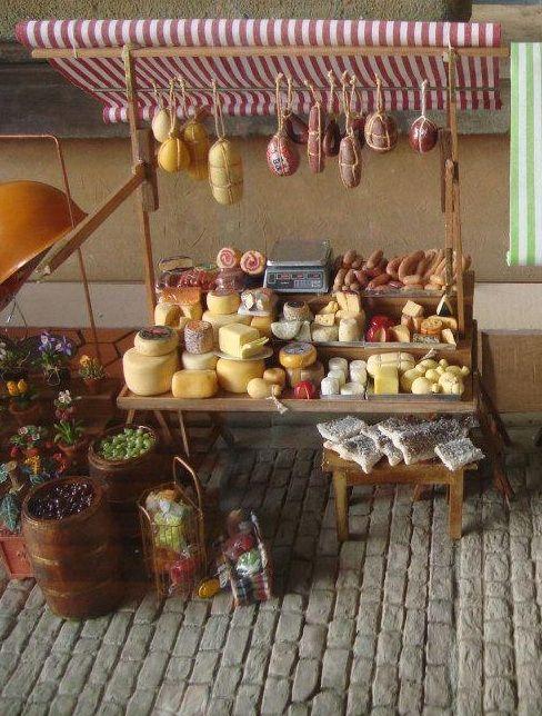 Carrito de quesos y embutidos