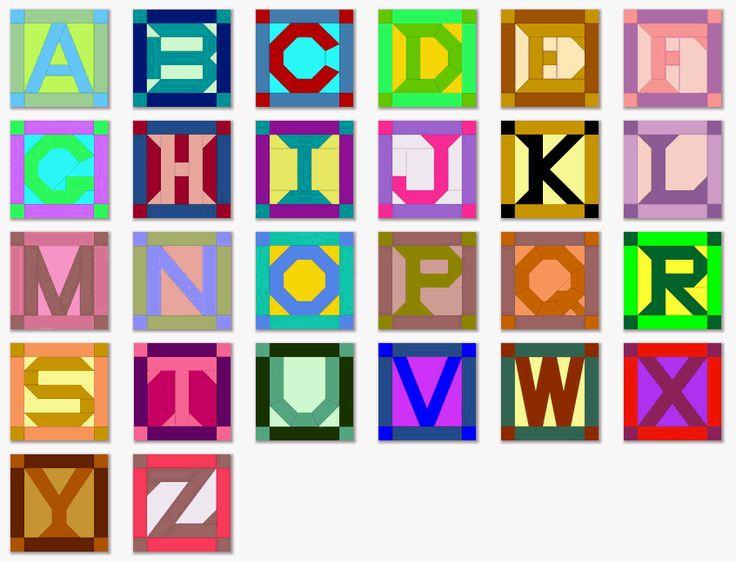 quilt block patterns | Alphabet Quilt Block Patterns with Templates