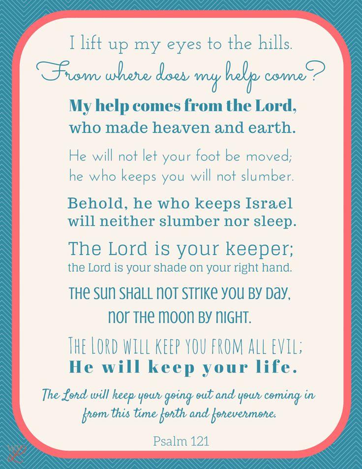 Psalm 121 Scripture Printable