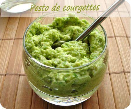 Pesto de courgettes                                                                                                                                                                                 Plus