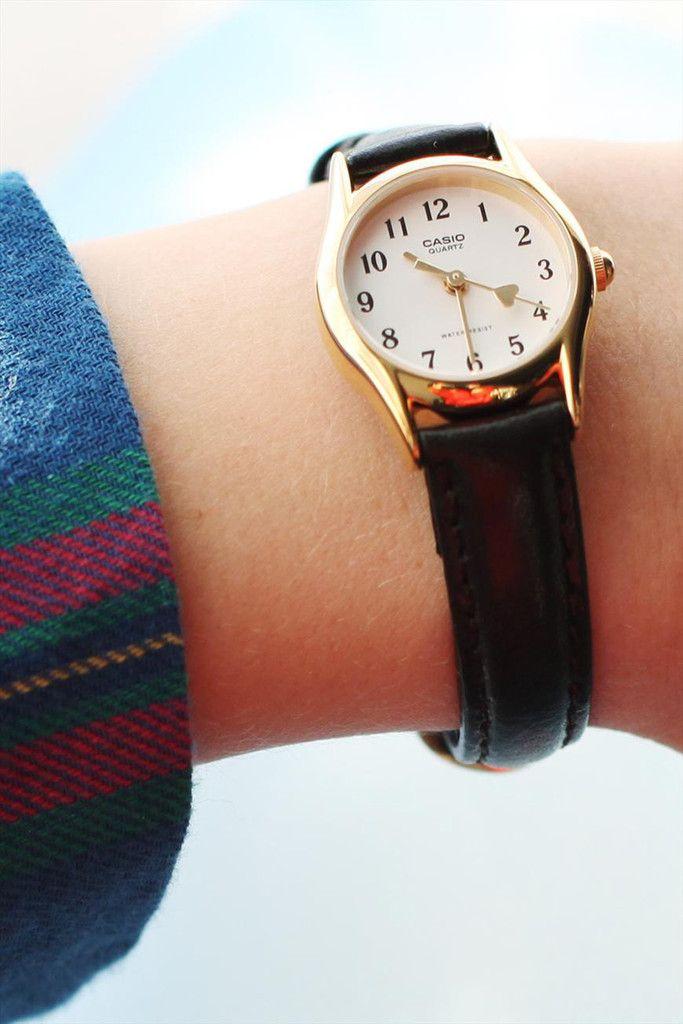 Casio Heart Hand Leather Watch