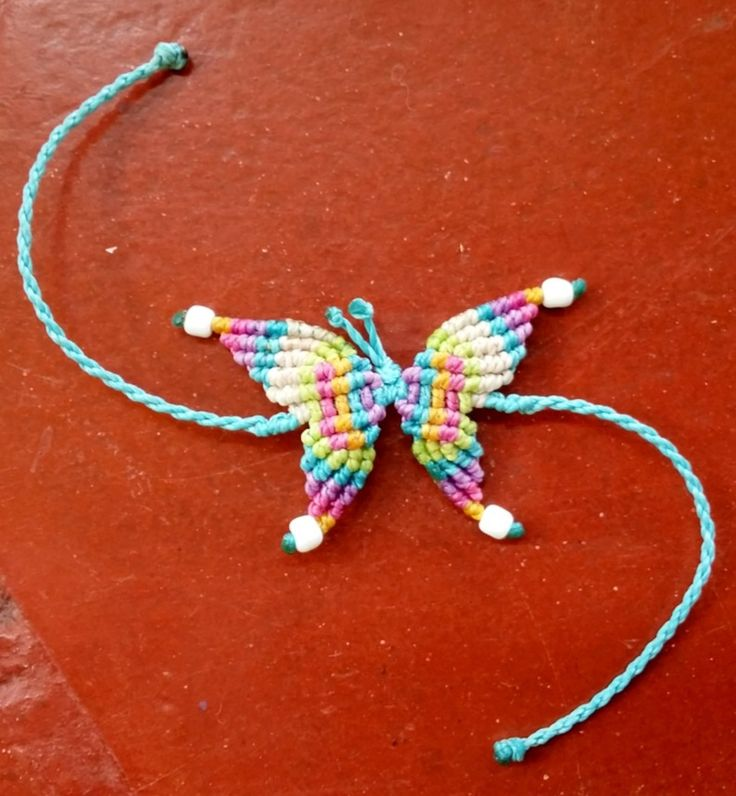 Macrame mariposa / butterfly. AUD9 each for either bracelet or anklet. Made to order :)