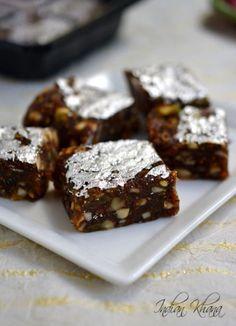 Dry Fruits Burfi   Burfi Recipe   Diwali Sweet Recipes ~ Indian Khana