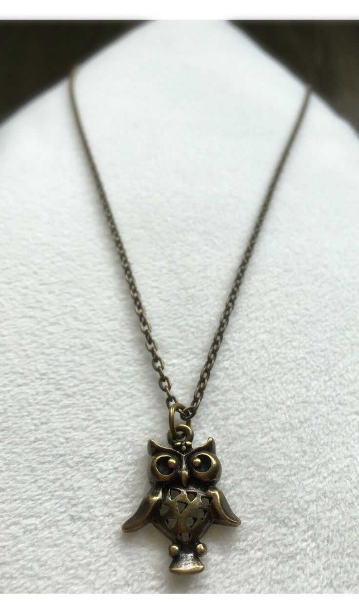 A personal favorite from my Etsy shop https://www.etsy.com/ca/listing/294239849/handmade-antique-gold-owl-necklace