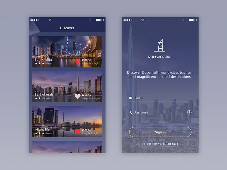 Discover Dubai App (samples)