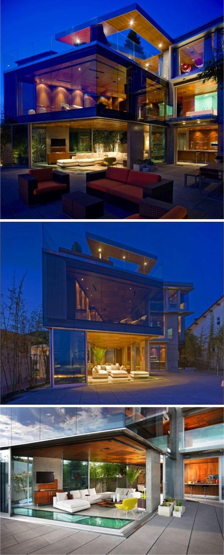 Simplesmente apaixonada por essa casa na California. Arte do arquiteto Jonathan Segal!
