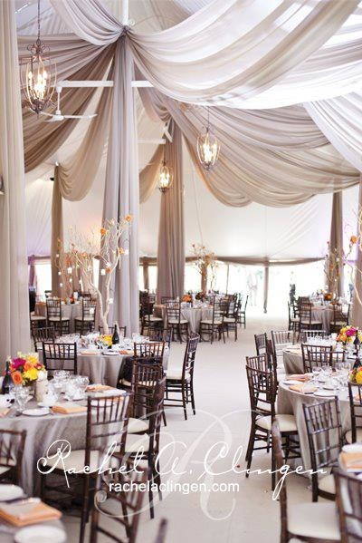 Interesting draping inside the marquee