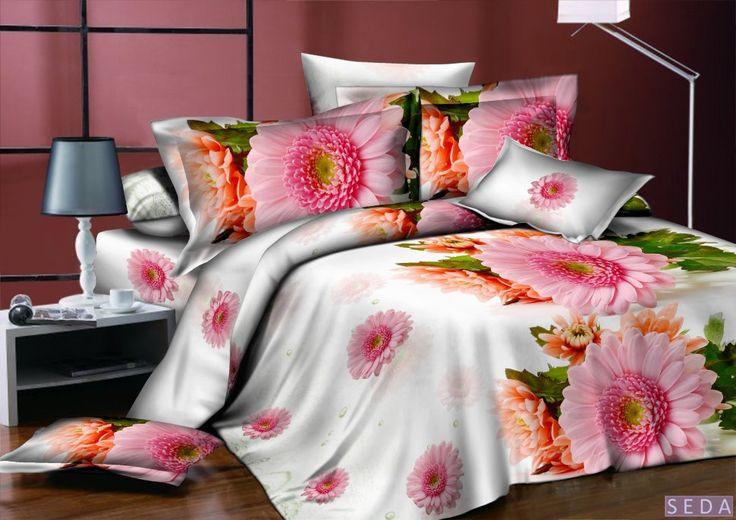 Постельное белье, поплин, 3d, розовое, арт. pl-01 Комплект белое - розовое - зеленое постельное белье из поплина. Эффект 3d. Рисунок: цветы, природа. 4 размера - комплектации. Выберите нужный Вам размер и положите его в Вашу корзину!