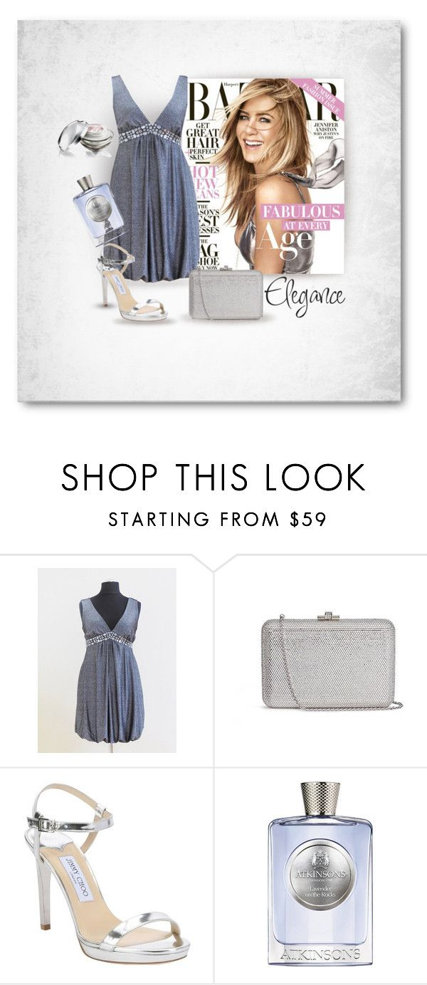 Elegance by styledonna on Polyvore featuring moda, Jimmy Choo, Judith Leiber, Atkinsons and Shiseido