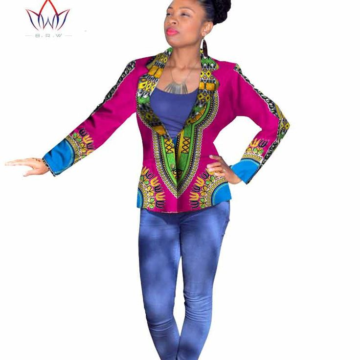 2016 embroidery bazin riche African Womens Clothing Dashikis for vestidos africanos tradicionales women basic coats WY763
