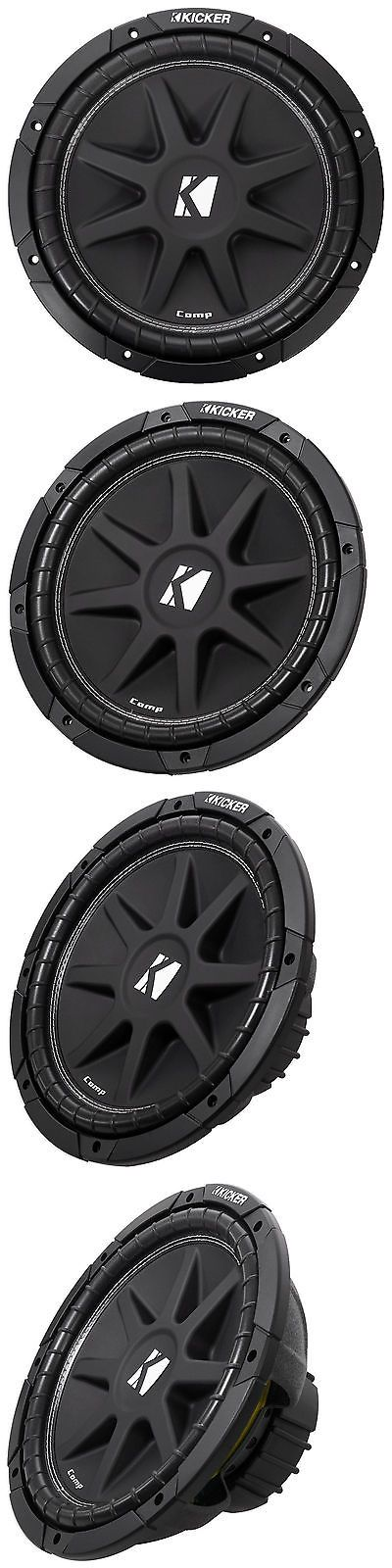 Car Subwoofers: Kicker 43C124 Comp 12 300 Watt Svc 4-Ohm Car Audio Subwoofer Sub BUY IT NOW ONLY: $79.95