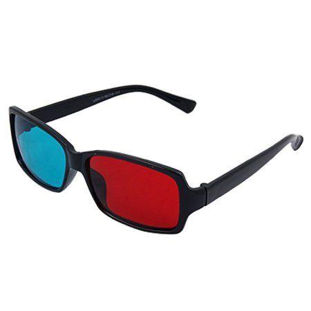 Plastic Frame Red-Cyan Movie 3D Dimensional 3D Glasses - Walmart.com