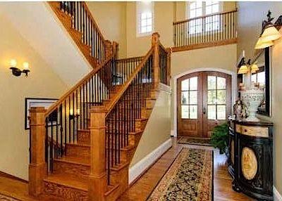 #entrance #stairs #interiordesign #homedecor #Hardwoodfloor #design #oakdoor #oak