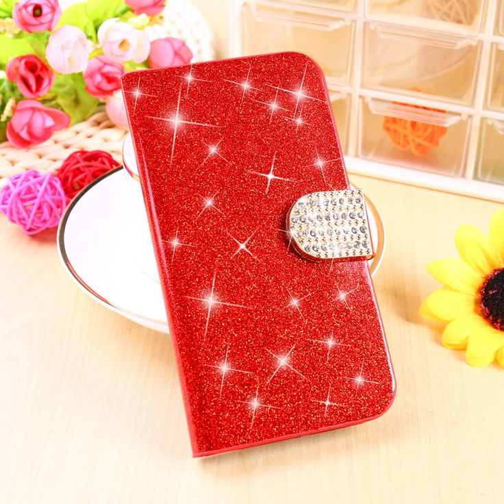 Glitter Rhinestone Cell Phone PU Holster For Apple iPhone 6S Cases iphone6S 4.7 inch Covers Stand Flip Housing Bag Skin Shell