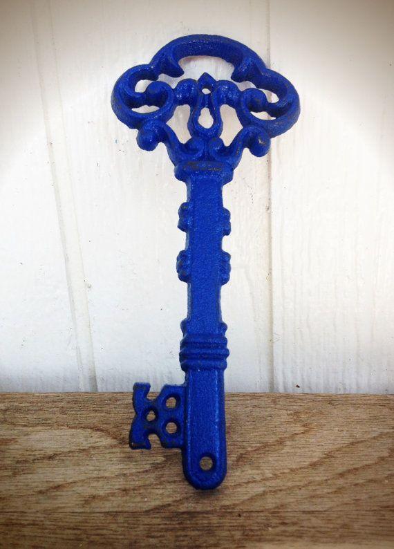 BOLD royal navy blue ORNATE skeleton KEY wall decor by BOLDHOUSE, $13.00