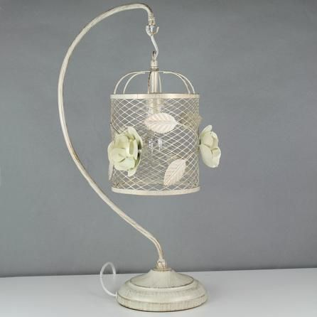 Vintage Rose Swan Neck Table Lamp | Dunelm Mill