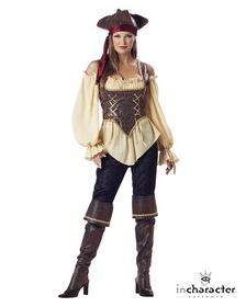 INCHARACTER COSTUMES IC1024 Rustic Pirate Lady Elite Adult Costume   #Halloween