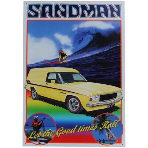 HZ Sandman Holden Panel Van Tin Sign from Sarah J Home Decor. $32.95