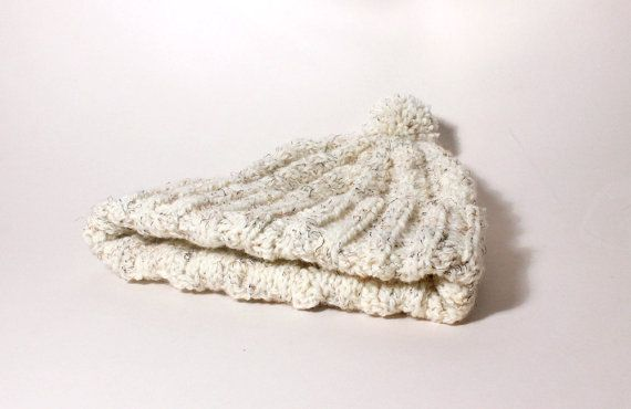 Hand Knitted Cream Bobble Hat For 79 Years by TheGrangeCrafts, £19.65