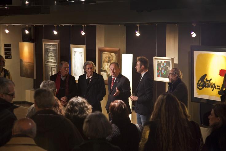 Exitazo en la inauguración de la nueva exposición de Espacio Fraile y Blanco: Miró, Chillida, Orallo...  #Inaudito