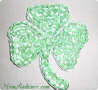 Green Pasta Shamrock Craft