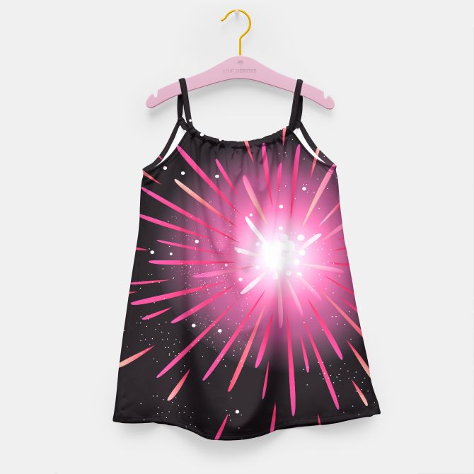 Designers tshirt with Fireworks black pink