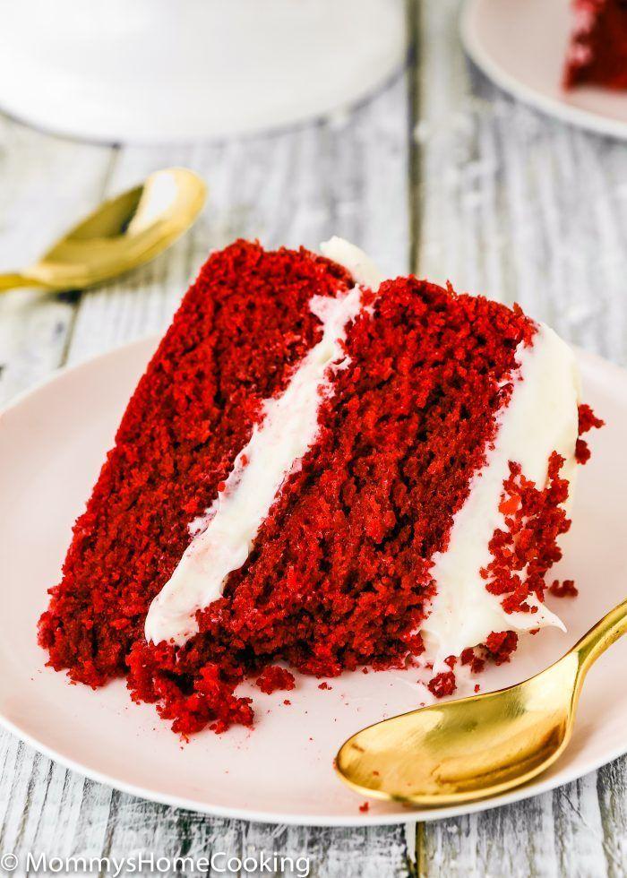 Eggless Red Velvet Cake Recipe Eggless Red Velvet Cake Red Velvet Cake Velvet Cake