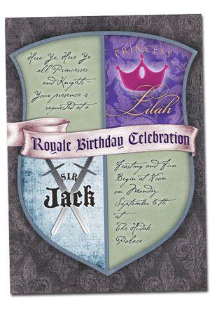 Knight and Princess #birthday #party #invitation