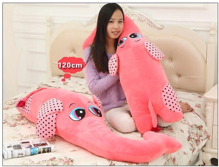 Огромный прекрасный плюшевый розовый слон игрушка большой творческий слон куклы бойфренд подушка кукла около 140 см