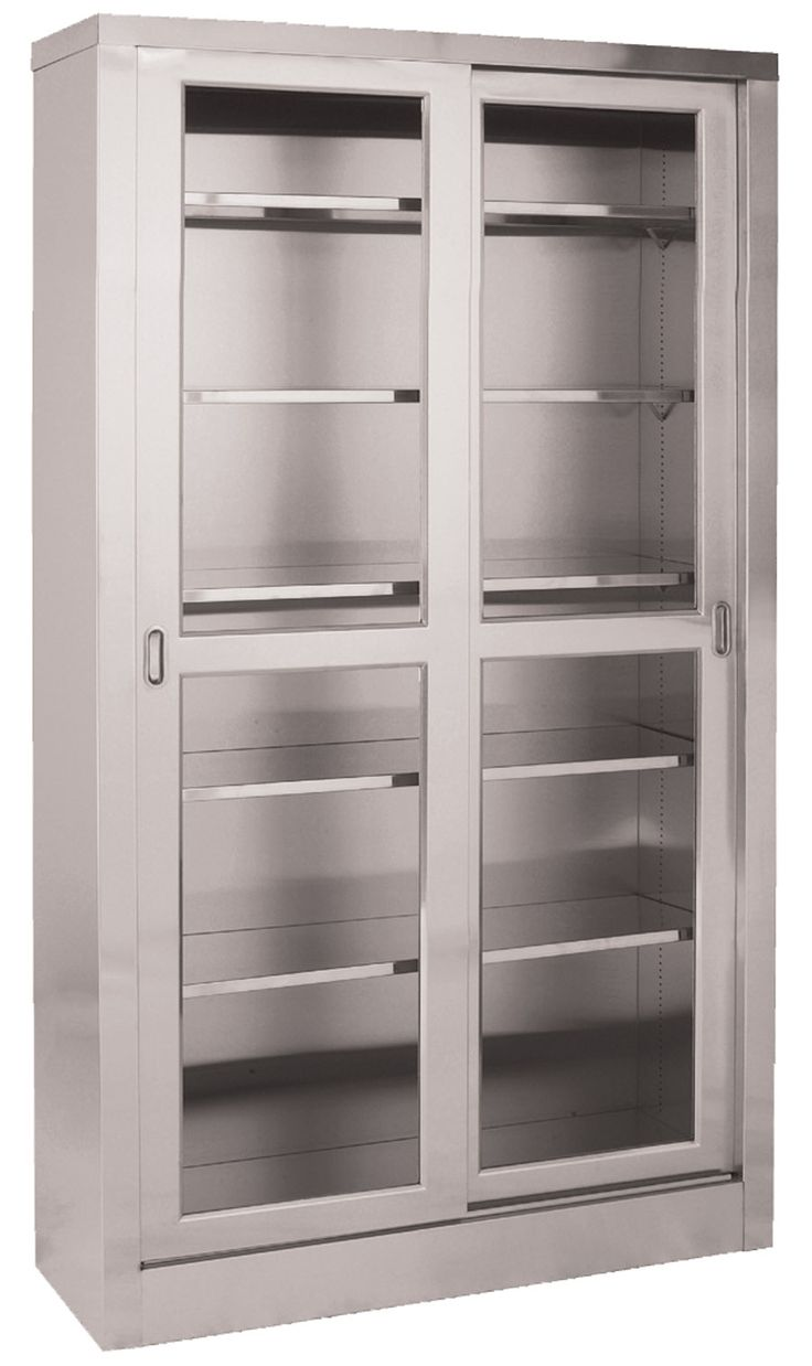 Portrait of Storage Cabinet with Glass Doors
