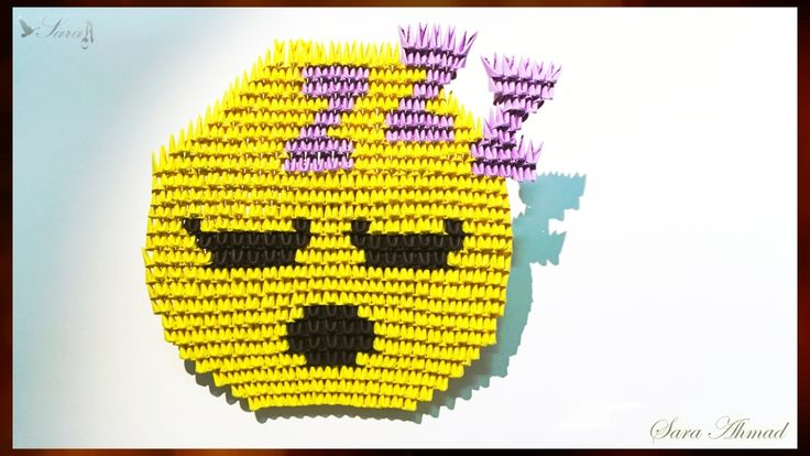 How to make 3d origami emoji - face 5