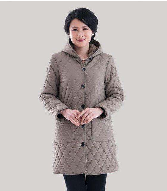 Down Parka 2017 women winter jacket coat middle-aged women XL-6XL winter plus velvet hooded coat jacket mother parka 81598
