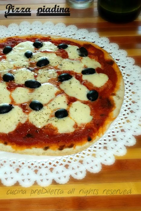 Pizza piadina, ricetta, cucina preDiletta