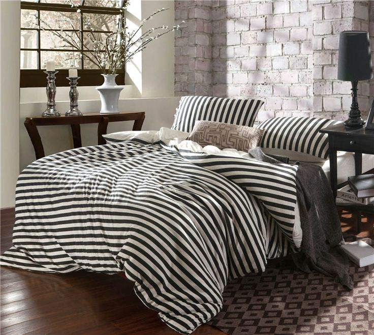 42 Best Black And White Striped Comforter Images On