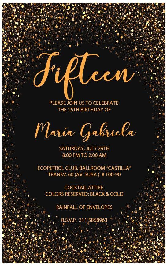 Invitación 15 años María Gabriela