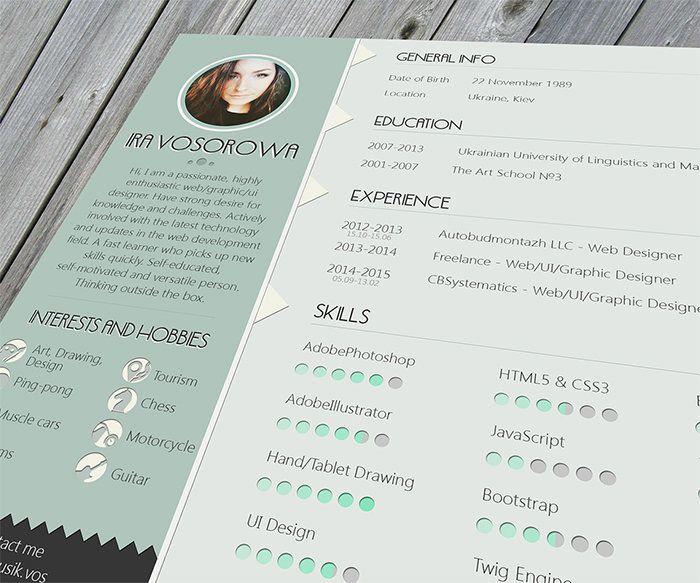 36 best Curriculum Vitae images on Pinterest Plants, Cv template - cool free resume templates
