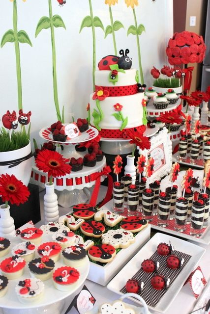 ladybug birthday party birthday party ideas