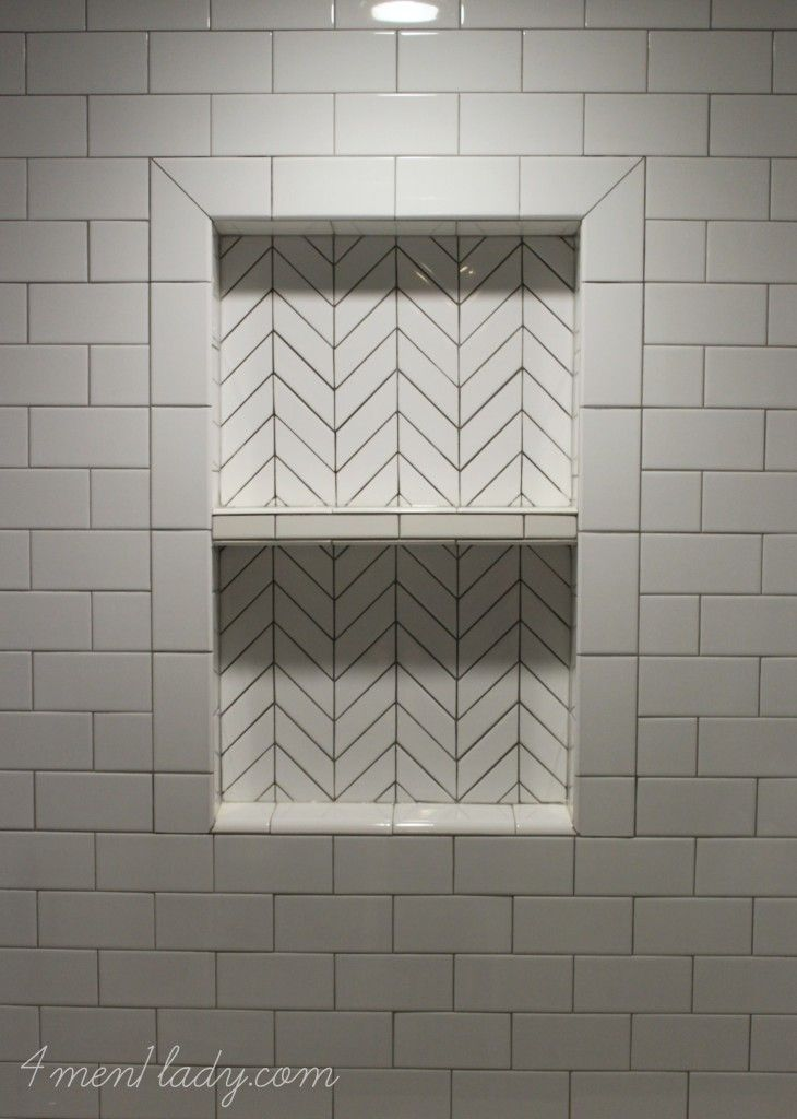 42 best herringbone tile images on pinterest bathrooms for Small bathroom herringbone tile